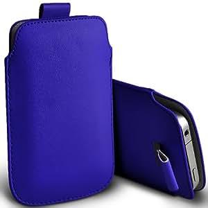 ONX3 Nokia 220 Leather Slip cuerda del tirón de la PU de protección en la bolsa de la liberación rápida (azul)