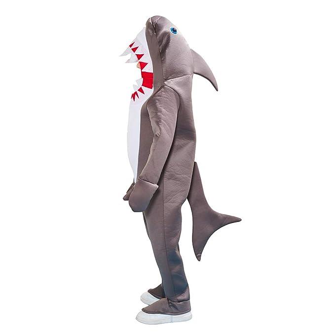 EraSpooky Disfraz de Tiburón Unisex Traje de Animal Onesie ...