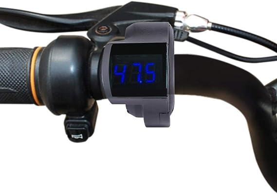 Vgeby Ebike Voltmeter Thumb Gas Shifter Voltmeter Mit Spannungsanzeige Für Roller Electric Bike Sport Freizeit