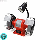 SKEMIDEX---8'' Bench Grinder With Light bright flexible work light spark guard 3/4 HP ul cul And bench grinder home depot bench grinder harbor freight bench grinder ryobi 8 inch bench grinder bench