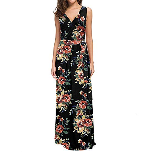 b0508fadc041 Maxi Vestito da Donna Bohemian Abito Lungo da Spiaggia Estiva Abito da  Cocktail Partito Floreale Vestiti da Sera Abiti Lunghi S-XL: Amazon.it:  Abbigliamento