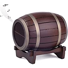 Artinova Wooden Barrel Speakers Portable Wireless Bluetooth Speakers with a Wooden Tray for IPHONE, Other Cellphone, Desktop Computer, Laptop ARTA-0051