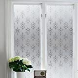 Kitchen Window Treatments with Dark Cabinets Niviy Static Cling Window Film Window Clings Privacy Frosted Window Cling Film17.7''x 78.7''