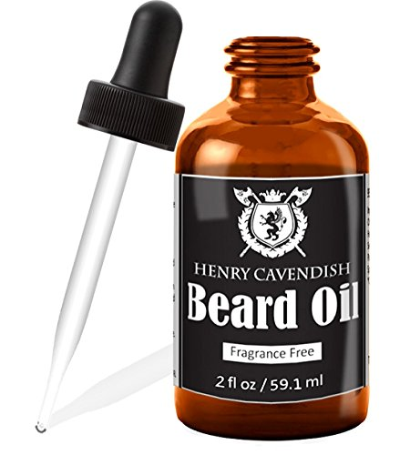 Henry Cavendish Beard Oil and Leave In Conditioner with Organic Jojo, Sunflower, Shea and Argon Oils, Fragrance Free, 2 oz.