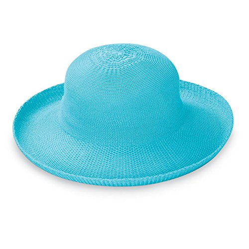 Wallaroo Hat Company Women's Victoria Sun Hat - Turquoise - Ultra-Lightweight, Packable, Modern Style, Designed in ()