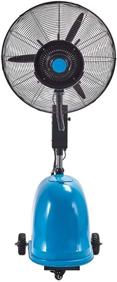 HWZQHJY Ventilador de pie con Swing Spray de refrigeración, además de Agua, Multi-función de Alta Potencia -3 Engranaje 10 Horas 49 litros de Volumen, Ajustable 63in- 79in Altura (30 Pulgadas)