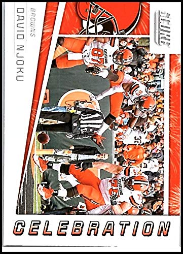 2019 Score Celebration Football #5 David Njoku Cleveland Browns Official NFL Trading Card from Panini
