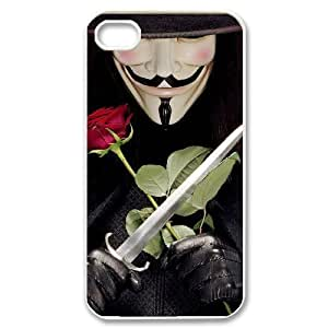 taoyix diy C-EUR Customized Print V for Vendetta Pattern Back Case for iPhone 4/4S