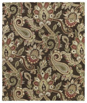 Kaleen 3204-40-23 Helena Collection Hand Tufted Area Rug, 2' x 3', Chocolate