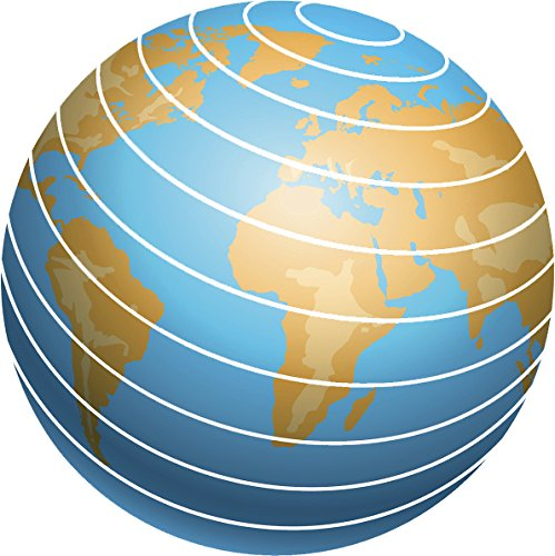 (Educational Earth Globe Cartoon Icon Vinyl Decal Sticker (12