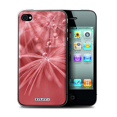 Coque de Stuff4 / Coque pour Apple iPhone 4/4S / Fleur Rouge Design / Gouttes de Fées Collection / par Kaleena Crowder