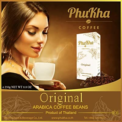 PhuKha Coffee - Finest Arabica Coffee Beans - Meduim Roast - Product of Thailand