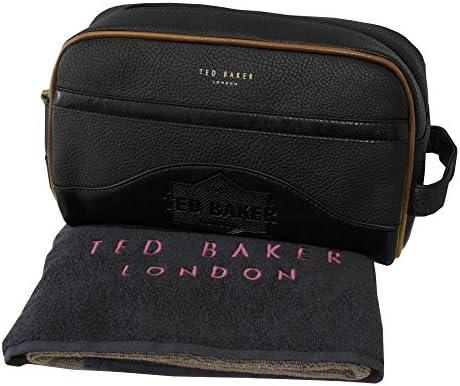 Neceser De Ted Baker En Relieve Con Toalla, Negra Un Tamaño: Amazon.es: Ropa y accesorios