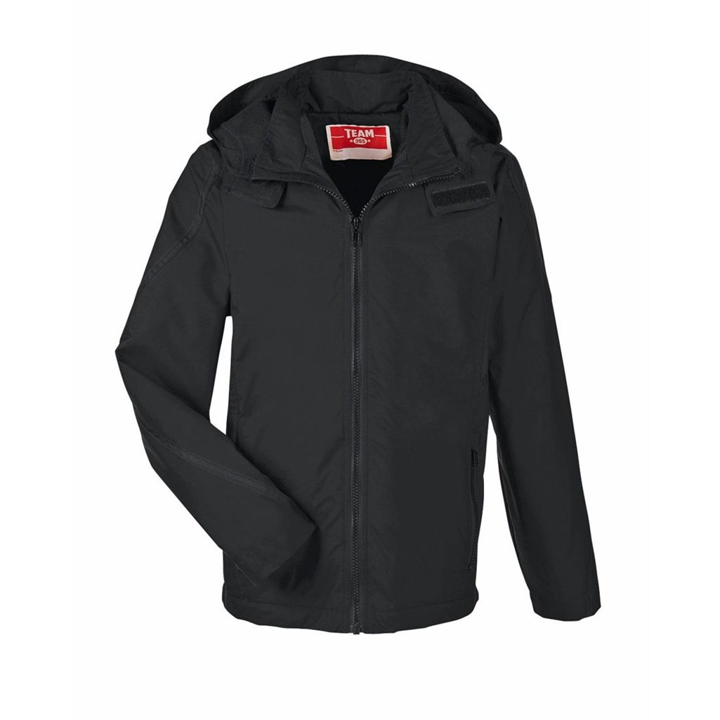 Ash City Apparel Team 365 Conquest Youth Jacket with Fleece Lining (Youth Large, Black) by Ash City Apparel