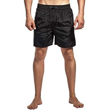 e18c1fc1ca Men's Solid Color Tethered Quick Dry Beach Shorts Hawaiian Style Sports  Shorts Large