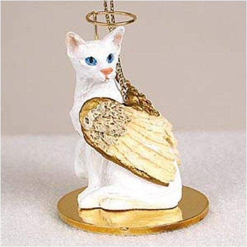(Oriental Shorthair, White Tiny Ones Cat Angel (2 in))