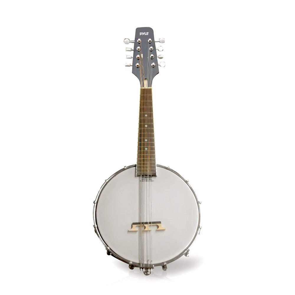 Pyle PBJ20 8-String 23-Inch Total Length Mandolin-Banjo Hybrid with White Jade Tuner Pegs, Rosewood Fretboard Sound Around
