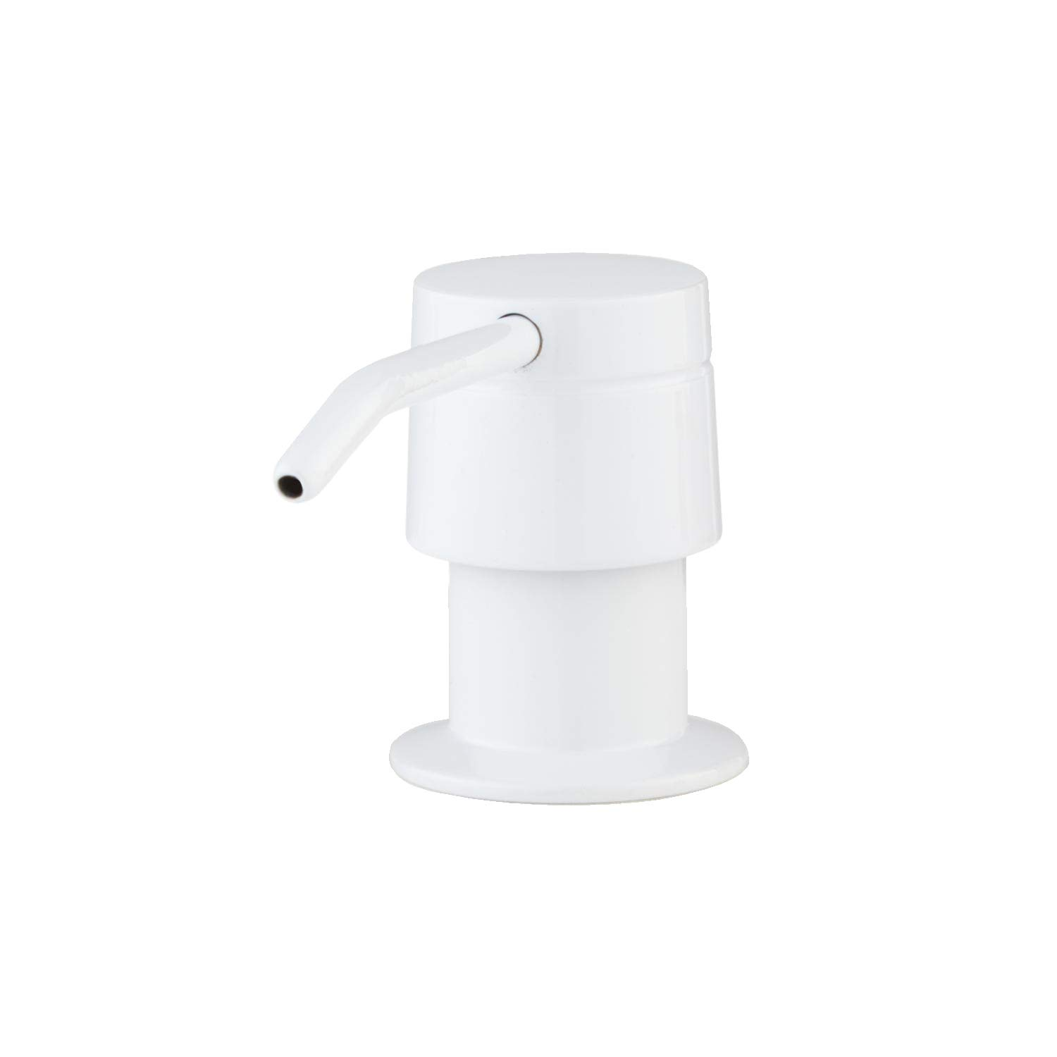 Naiture Brass Soap Or Lotion Dispenser in White Finish
