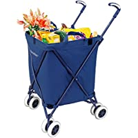 Folding Shopping Cart - Versacart Transit Utility Cart - Transport Up to 120 Pounds (Water-Resistant Heavy Duty...