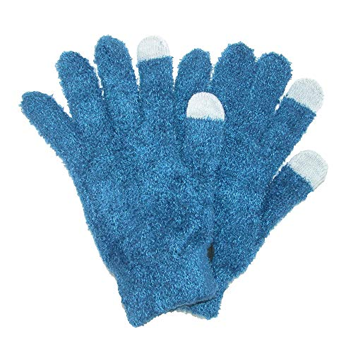 Grand Sierra Women's Basic Touchscreen Solid Eyelash Glove, Blue ()