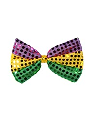 Beistle 60703-GGP Glitz 'N Gleam Bow Tie, 4-1/4-Inch by 7-Inch, Gold/Green/Purple