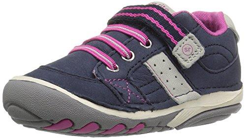 Stride Rite Girls' SRT SM Artie Sneaker, Navy/Pink, 5 Medium US Toddler ()