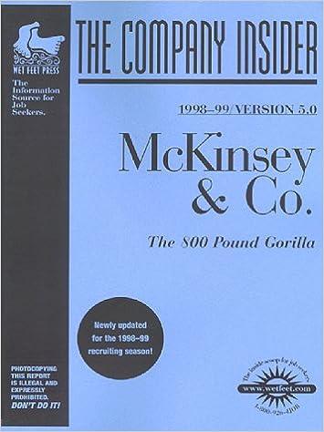 McKinsey & Co : The WetFeet com Insider Guide (Wetfoot Com Insider