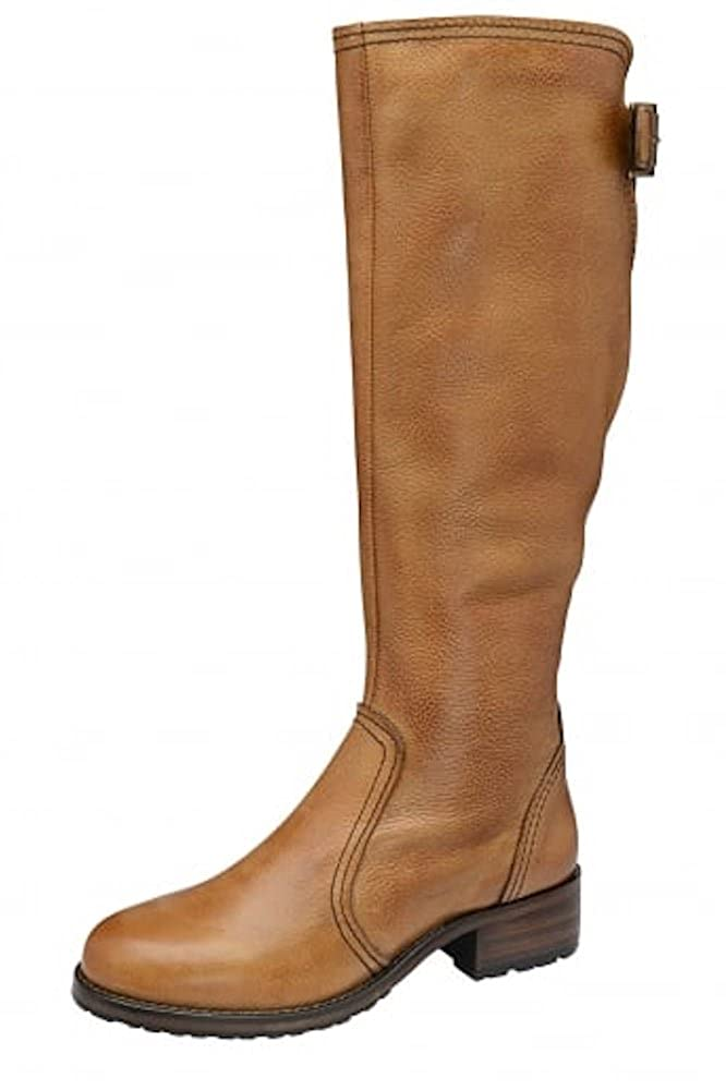 6c58816308c RAVEL Foley Ladies Tan Brown Leather Block Low Heeled Knigh High Boots  Womens Riding Boot Size 6  Amazon.co.uk  Shoes   Bags