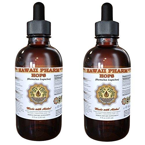 Hops Liquid Extract, Organic Hops (Humulus Lupulus) Tincture 2x4 oz from HawaiiPharm