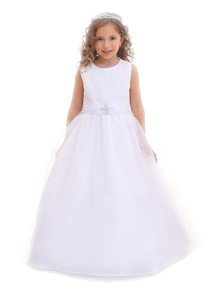 iGirldress Flower Girl First Communion Pageant Wedding Birthday Dress CA3636-14