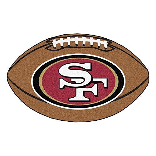 FANMATS NFL San Francisco 49ers Nylon Face Football Rug San Francisco 49ers Rug