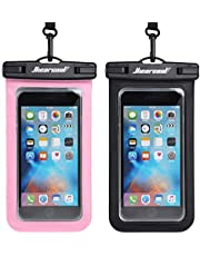 """Universal Waterproof Case,Waterproof Phone Pouch Compatible for iPhone 12 Pro 11 Pro Max XS Max XR X 8 7 Samsung Galaxy s10/s9 Google Pixel 2 HTC Up to 7.0"""", IPX8 Cellphone Dry Bag -2 Pack"""