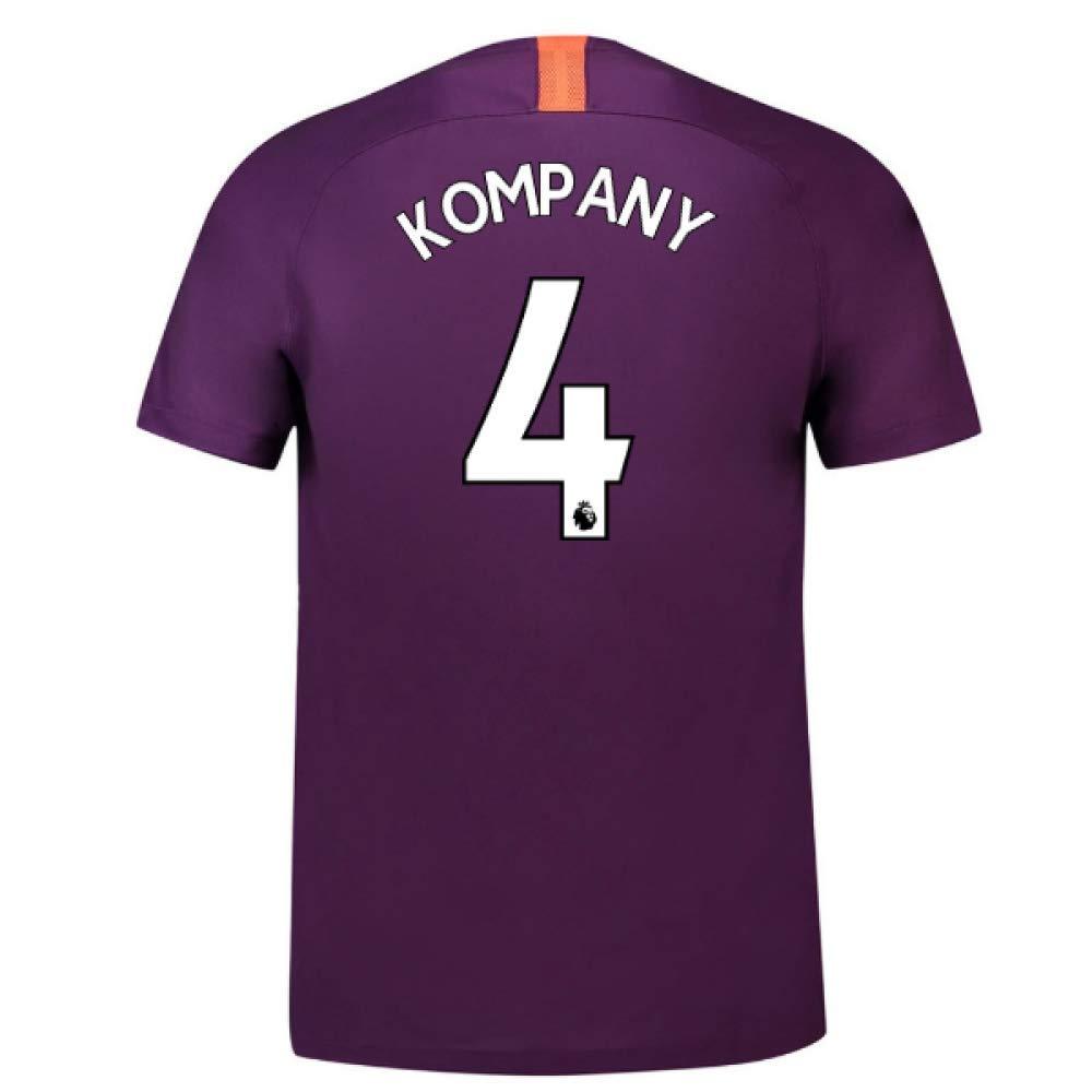 2018-2019 Man City Third Nike Football Soccer T-Shirt Trikot (Vincent Kompany 4)