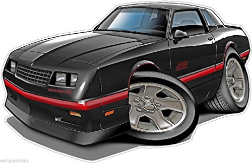 - 1984-88 Monte Carlo WALL DECAL Vintage 3D Car Movable Stickers Vinyl Wall Stickers for Kids Room
