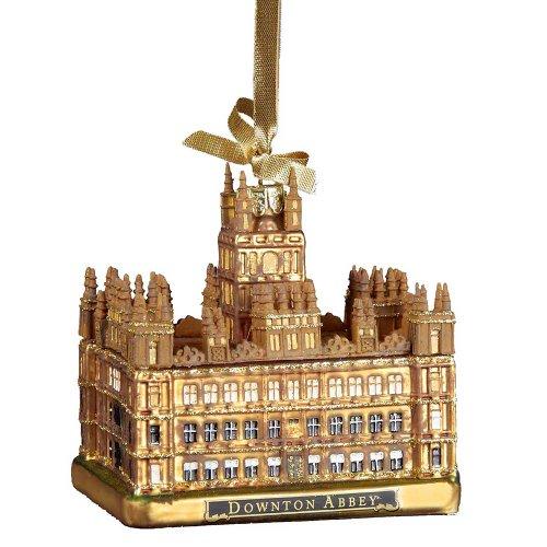 Downton Abbey Castle Glass Ornament, 4.25-Inch