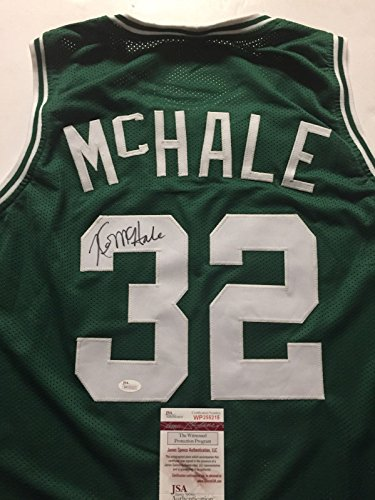 Autographed/Signed Kevin McHale Boston Green Basketball Jersey JSA ()