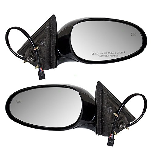Driver and Passenger Power Side View Mirrors Heated Replacement for Buick 10316927 10316926