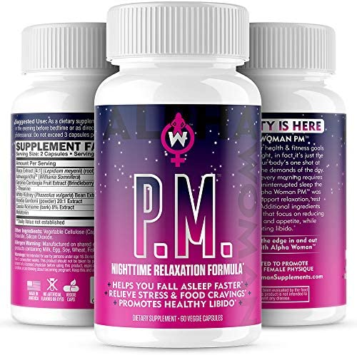 Alpha Woman PM - Nighttime Relaxation Formula - Relieve Stress, Reduce Food Cravings, Promote Healthy Libido - Vegan & Keto Safe -60 Capsules 7