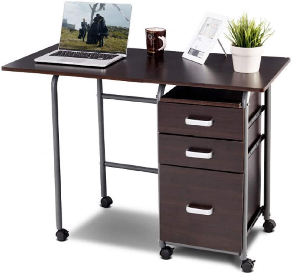 Brazen-X Folding Computer Laptop Desk Wheeled Home Office
