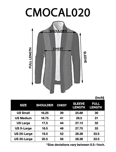 H2H Men Classic Notched Lapel Blazer Cardigan Sweater Khaki US M/Asia L (CMOCAL020) by H2H (Image #7)