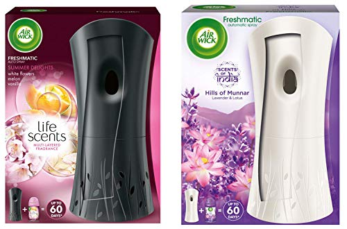 Airwick Freshmatic Complete Kit – Automatic Air Freshener – Summer Delights (250 ml) & Freshmatic Air Freshener Complete…