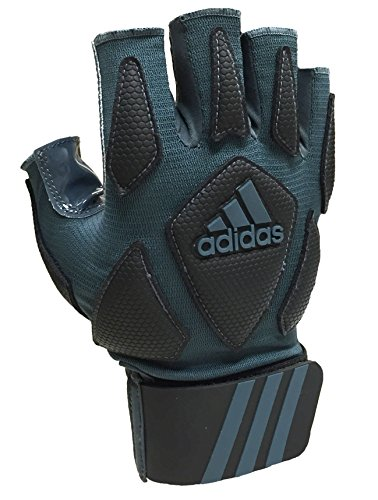 adidas Scorch Destroy 2 Lineman Gloves Half Finger, Grey/Black, X-Large