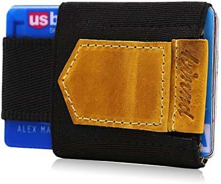 Minimalist Slim Wallet Credit Card Holder Front Pocket Wallet for Card Cash Key