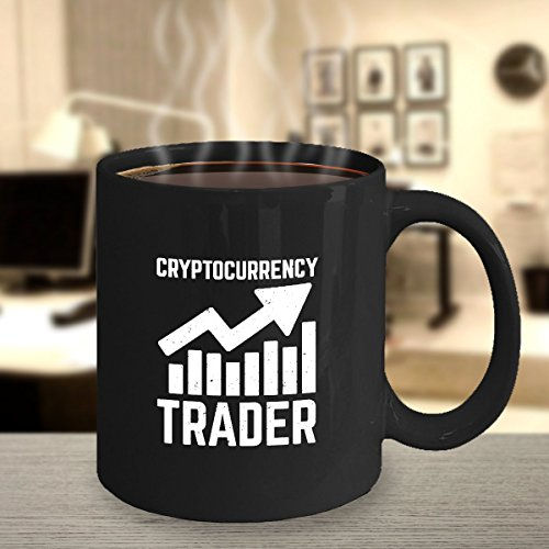 Cryptocurrency Trader Mug – Ceramic Custom Printed Cup for Crypto Fans – Great Bitcoin Traders Gift Idea – Blockchain Fan Present