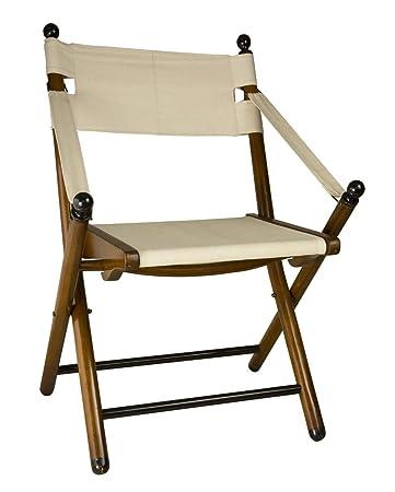 Amazon.com: Campaña silla plegable de madera de 36