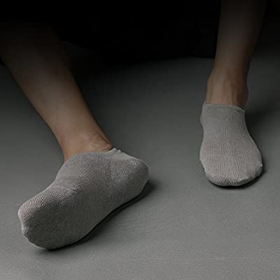 IDEGG Women and Men No Show Socks Low Cut Anti-slid Cotton Athletic Casual Socks at Women's Clothing store