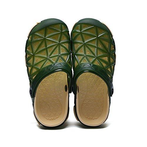 Sitaile Dames Heren Lichtgewicht Strand Sandalen Outdoor Klompen Ademend Water Sandaal Slippers Donkergroen