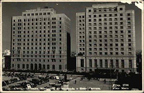ministerio-dr-hacienda-y-hotel-carrera-santiago-chile-original-vintage-postcard