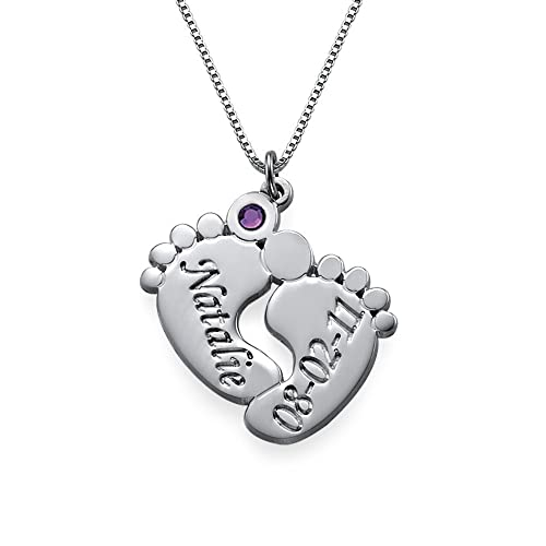Personalized Baby Feet Necklace - Great Push Gift Idea For Wife