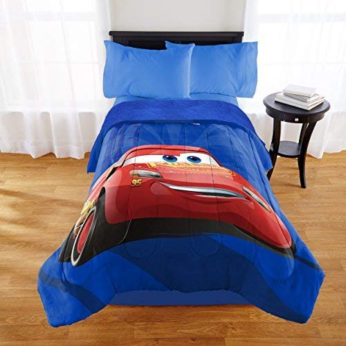 Cars Disney 3 Sherpa Comforter Twin Sheets Set Bundle